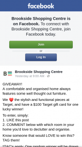 Brookside Shopping Centre – Win $100 Target Gift Card