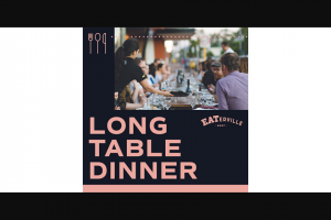 Community News – Win One of Two Double Passes to The Long Table Dinner on Friday 11 October
