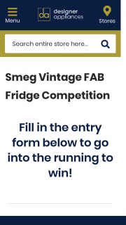 Designer Appliances – Win a Smeg Vintage Fab Fridge of Their Choice (prize valued at $2,499)