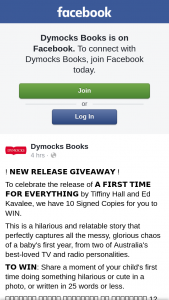 Dymocks Books – Win One of Ten Signed Copies of a First Time for Everything