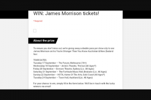 Frontier – a Double Pass Per Show City to See James Morrison on His You're Stronger Than You Know Australian & New Zealand Tour (prize valued at $858)