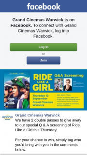 Grand Cinemas Warwick – to Our Special Q & a Screening of Ride Like a Girl this Thursday