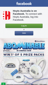 Hoyts Australia – Win 1 of 5 Abominable Prize Packs