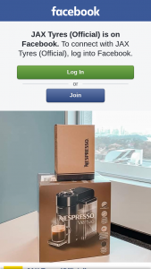 JAX Tyres – a Nespresso Vertuo Machine Coffee Pods for One Lucky Follower