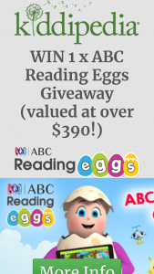 Kiddipedia – Win 1 X Abc Reading Eggs Giveaway (valued at Over $390) (prize valued at $390)