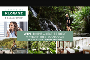 Klorane – Win a Rainforest Retreat to The Daintree Ecolodge Or Instantly Win 1 of 43 Klorane Xl Dry Shampoos (prize valued at $19.95)