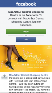 MacArthur Central SC – Win 1 of 4 $100 Vouchers to Use at Heel and Sole Man (prize valued at $400)