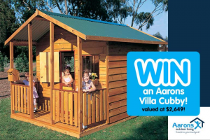 Mum Central – Win an Aarons Villa Cubby House (prize valued at $2,649)