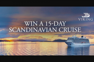 My Next Escape – Win a 15-day Scandinavian Ocean Cruise for Two (prize valued at $20,390)