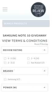 National Product Review – Win 1 of 3 Samsung Note 10 Phones for Leaving The Most Informative and Helpful Review (prize valued at $1,499)