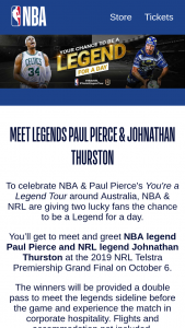 NBA – Win 1 of 2 Double Passes to The Nrl Grand Final (prize valued at $5,000)