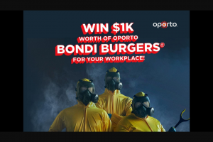 Nova FM – Win Oporto Bondi Burgers for Your Workplace