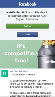 Nutribullet Aus – Win a Nutribullet for You and a Friend