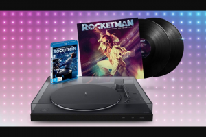 Plusrewards – Win Your Very Own Rocketman Inspired Entertainment Bundle Including a Sony Bluetooth Turntable