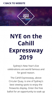 Roads & Maritime Services – Win 1 of 6000 Tickets to New Year's Eve on The Cahill Expressway