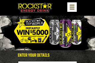Rockstar Instantly – Win $5000 Plus Exclusive Rockstar Merch to Be Won (prize valued at $900)