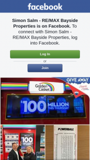 Simon Salm RE-Max Bayside Properties – Win a Jumbo Quickpick 36 Games In Powerball 100 Million Dollar Draw