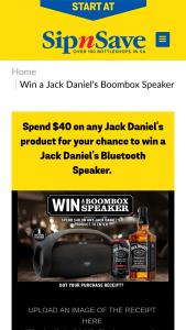 SipnSave – Win a Jack Daniel's Branded Bluetooth Speaker Valued at $150. (prize valued at $150)