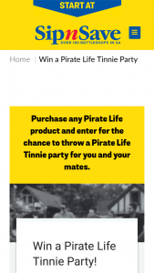 SipnSave-Bottlemart/Pirate Life – Win a Prize (prize valued at $540)