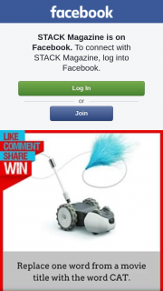 Stack magazine – Win this Meow-Velous Robot Mousr (prize valued at $199)