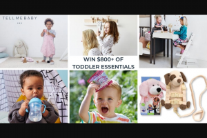 Tell Me Baby – Win Toddler Essentials Giveaway (prize valued at $811)
