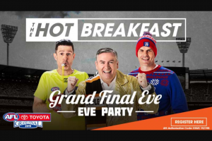 Triple M Melbourne – Win a Minor Prize and Will Be Determined a Finalist (prize valued at $1,800)
