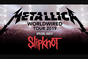 Warner Music – Tickets to See Slipknot & Metallica In Sydney (prize valued at $1,754)