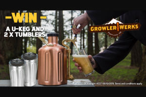 Wild Earth – Win a Growlerwerks Ukeg 128 Beer Growler & Two Upint Chalices (prize valued at $400)
