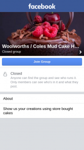 Woolworths – Coles Mud Cake Hacks Facebook Page – Win 2 X VIP Tickets to The Cake Bake & Sweets Show In Sydney (icc Darling Harbour) Or Melbourne (convention Center) (prize valued at $380)
