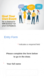 Work Safe Victoria – You Agree to Allow Worksafe Victoria to Share Your Event Photo (prize valued at $3,000)