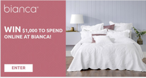 Bianca – Win $1,000 to spend on products of your choice online