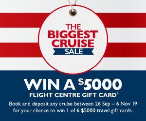 Flight Centre – Win 1 of 6 Flight Centre gift cards valued at $5,000 each