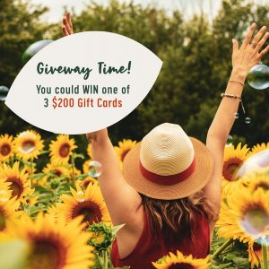 Flower Power – Win 1 of 3 gift cards valued at $200 each