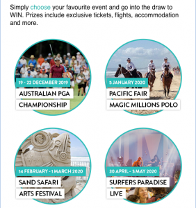 Gold Coast Tourism – Win 1 of 4 Gold Coast event holiday packages