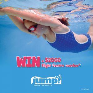 JUMP Swim Schools – Win a $2,000 Flight Centre voucher