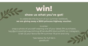 Princess Highway – Win a $500 voucher