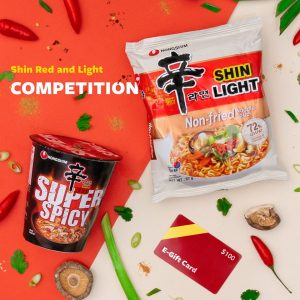 Shin Ramyun Noodles – Win 1 of 2 e-gift cards valued at $100 each plus free products