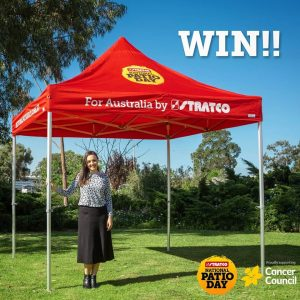 Stratco Trade – Win a pop up patio valued at $700
