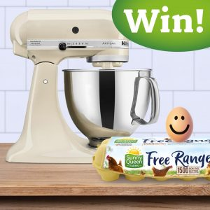 Sunny The Egg – Win a Kitchen Aid 4.8L Artisan Tilt-Head Stand Mixer