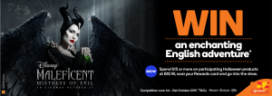 Woolworths Rewards – Disney's Maleficent: Mistress of Evil – Win a grand prize of a family trip to the UK OR 1 of 2 minor prizes