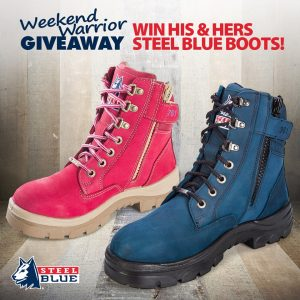 WorkwearHub – Win a pair of His and Hers Steel Blue Boots