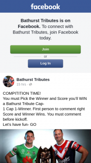 Bathurst Tributes – Win a Bathurst Tribute Cap- 1 Cap 1-winner