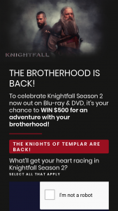Beyond Home Entertainment – Win $500 for an Adventure With Your Brotherhood (prize valued at $500)