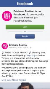 Brisbane Festival – Win 1 Per Winner Total of 2 Winners