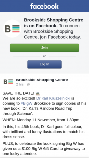 Brookside Shopping Centre – Win The Voucher