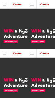 Canon – Win a Ky&#333y&#363 Adventure Gear Pack Worth $2000. (prize valued at $2,000)