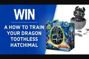 Channel 7 – Sunrise – Win a 'how to Train Your Dragon' Hatchimal