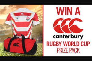 Channel 7 – Sunrise – Win an Exclusive 2019 Canterbury Prize Pack to Help You Get Into The Rugby World Cup Spirit In this Week's Sunrise Family Newsletter