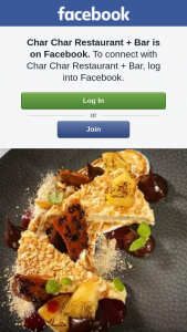 Char Char Restaurant Bar – Win a $200 Voucher (prize valued at $200)