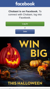 Chobani – Win The Ultimate Halloween Experience (prize valued at $1,000)